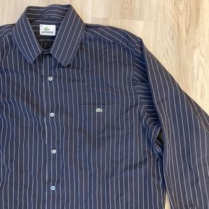 Lacoste Pinstripe Button Up